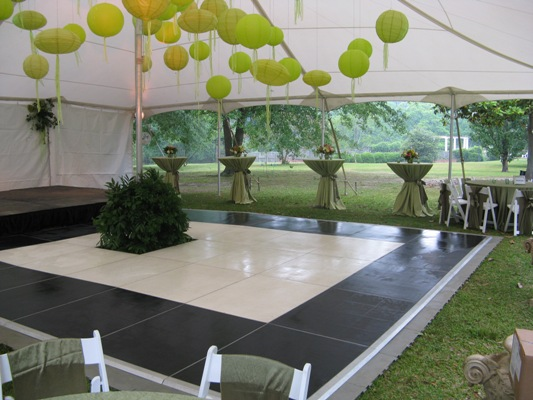 Staging system for hire